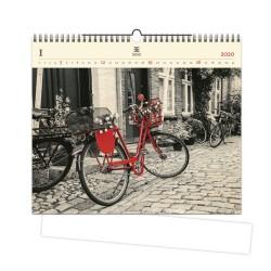 Nástěnný dřevěný kalendář 2020 - Bicycle