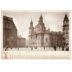 Nástěnný kalendář 2020 Praha historická