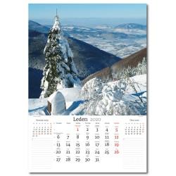 Nástěnný kalendář 2020 České hory