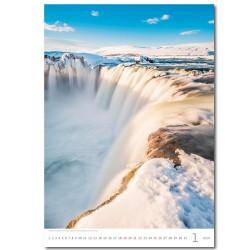 Nástěnný kalendář 2020 Waterfalls