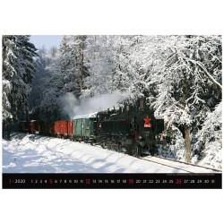 Nástěnný kalendář 2020 Locomotives - Radim Říha