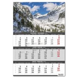 Nástěnný kalendář 2020 Hory – 3měsíční-Hory – 3mesačné