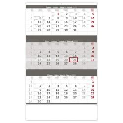 Nástěnný kalendář 2020 Tříměsíční šedý