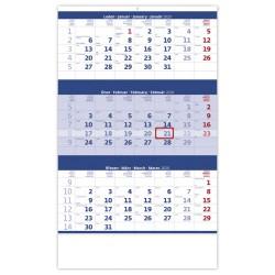 Nástěnný kalendář 2020 Tříměsíční modrý