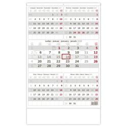 Nástěnný kalendář 2020 Pětiměsíční šedý