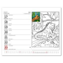 Stolní kalendář 2020 MiniMax Omalovánky-Maľovanky