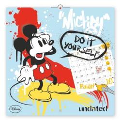 Nástěnný kalendář Mickey Mouse - omalovánkový