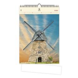Nástěnný dřevěný kalendář 2020 - Windmill
