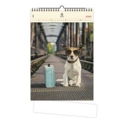 Nástěnný dřevěný kalendář 2020 - Dog