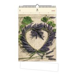Nástěnný dřevěný kalendář 2020 - Heart