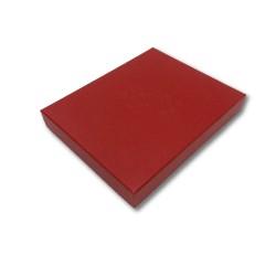 Krabička s víkem červená 200 x 250 mm