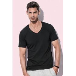 Pánské strečové tričko Dean V-neck