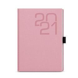 Týdenní diář 2021 Oskar Fabric A5 - růžová