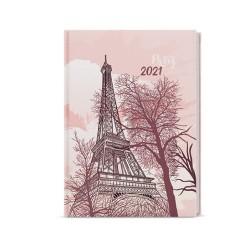 Týdenní diář 2021 Oskar lamino A5 - Eiffelovka