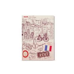 Týdenní diář 2021 Prokop Lamino B6 - Paříž