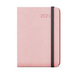 Týdenní diář 2021 Zoro Flexi s poznámkami A5 - pastelová růžová