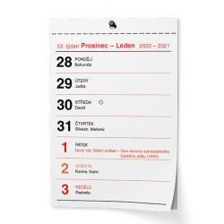 Nástěnný kalendář 2021 Trhací kalendář I. - A6