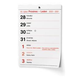 Nástěnný kalendář 2021 Trhací kalendář II. - A5