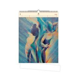Nástěnný dřevěný kalendář 2021 - Women II