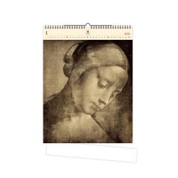 Nástěnný dřevěný kalendář 2021 - Da Vinci