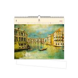 Nástěnný dřevěný kalendář 2021 - Venezia IV.