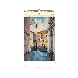 Nástěnný dřevěný kalendář 2021 - Aquarelle