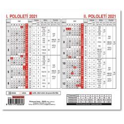 Kalendář - Plánovací karta 2021