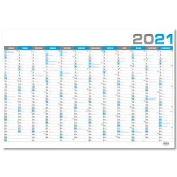 Nástěnný roční kalendář 2021 - modrý
