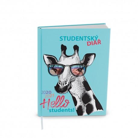 Týdenní diář 2021 Student Lamino kapesní- Žirafa