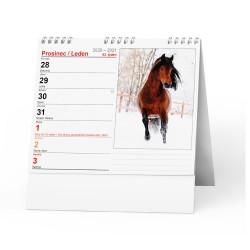 Stolní kalendář 2021 IDEÁL - Koně