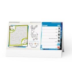 Stolní kalendář 2021 Kreativní kalendář pro děti