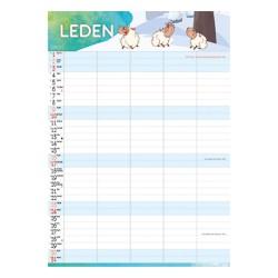 Nástěnný kalendář 2021 Rodinný plánovací kalendář