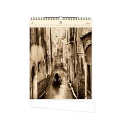 Nástěnný dřevěný kalendář 2021 - Venezia
