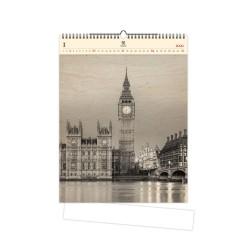 Nástěnný dřevěný kalendář 2021 - Big Ben