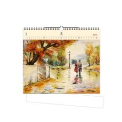 Nástěnný dřevěný kalendář 2021 - Romance
