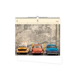 Nástěnný dřevěný kalendář 2021 - Cars