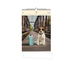 Nástěnný dřevěný kalendář 2021 - Dog