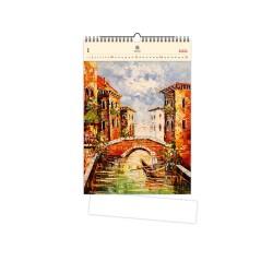 Nástěnný dřevěný kalendář 2021 - Venezia III.
