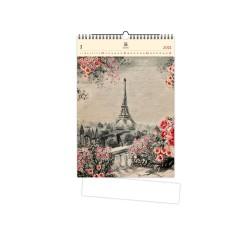 Nástěnný dřevěný kalendář 2021 - Eiffel Tower