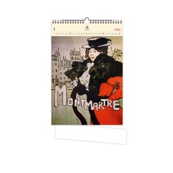 Nástěnný dřevěný kalendář 2021 - Montmartre
