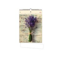 Nástěnný dřevěný kalendář 2021 - Levander
