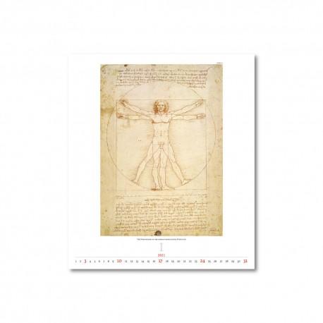 Nástěnný kalendář 2021 - Leonardo da Vinci