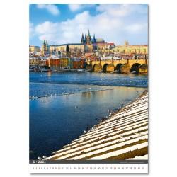 Nástěnný kalendář 2021 - Praha/Prague/Prag