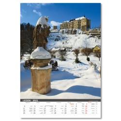 Nástěnný kalendář 2021 - Naše hrady a zámky
