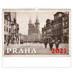 Nástěnný kalendář 2021 - Praha historická