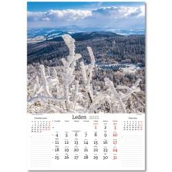 Nástěnný kalendář 2021 - České hory