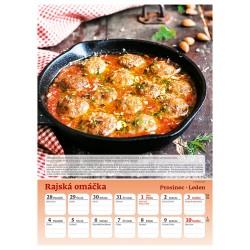 Nástěnný kalendář 2021 - Česká kuchařka