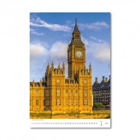 Nástěnný kalendář 2021 - Cities of Europe