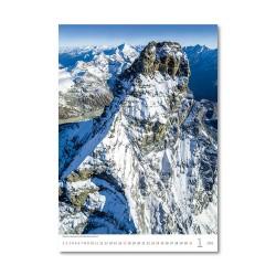 Nástěnný kalendář 2021 - Mountains/Berge/Hory