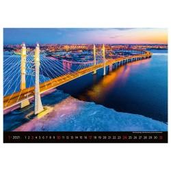 Nástěnný kalendář 2021 - Bridges